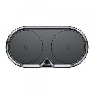 Беспроводное зарядное устройство Baseus Dual Wireless Charger черное