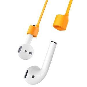 Шнур-фиксатор Baseus Strap оранжевый для наушников Apple AirPods