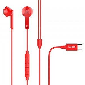 Навушники Baseus Encok C16 червоні