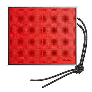 Портативний спікер Baseus Encok Music-Cube Wireless Speaker E05 червоний + чорний