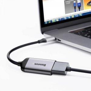 Переходник Baseus Enjoyment с Type-C на HDMI серый
