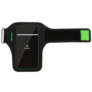 """Спортивный чехол на руку Baseus Flexible зеленый + черный для iPhone X и смартфонов диагональю 5.8"""" и менее"""