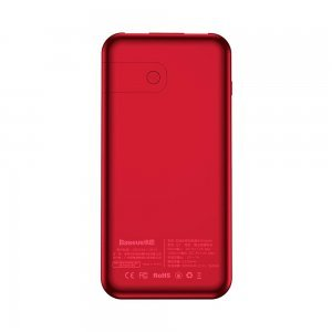 Внешний беспроводной аккумулятор Baseus 8000mAh красный