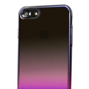 Полупрозрачный чехол Baseus Glaze розовый для iPhone 8/7