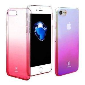 Полупрозрачный чехол Baseus Glaze розовый для iPhone 8/7/SE 2020