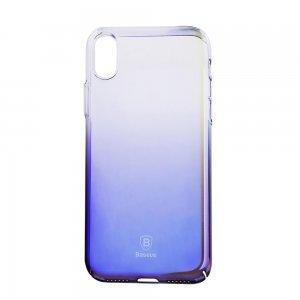 Полупрозрачный чехол Baseus Glaze черный для iPhone X/XS