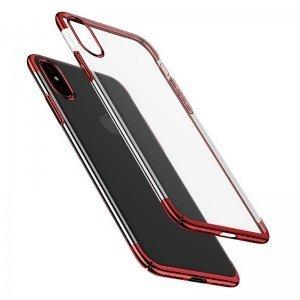 Чехол Baseus Glitter красный для iPhone X/XS