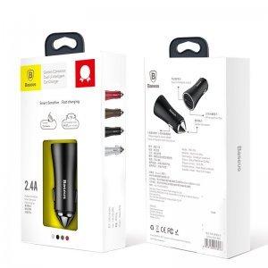 Автомобильное зарядное утройство Baseus Golden Contactor Dual U Intelligent серебристый