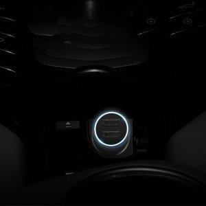 Автомобильное зарядное утройство Baseus Golden Contactor Dual U Intelligent черный