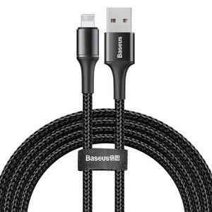 Lightning кабель Baseus Halo Data Cable USB 1.5A, 2m черный