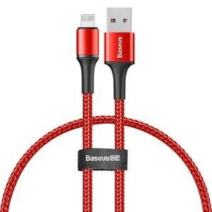 Lightning кабель Baseus Halo Data Cable USB For iP 2.4A 0.25м красный