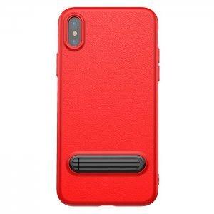 Чехол с подставкой Baseus Happy Watching Supporting красный для iPhone X/XS