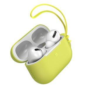 Чехол Baseus Let's Go Jelly Lanyard желтый для Airpods Pro