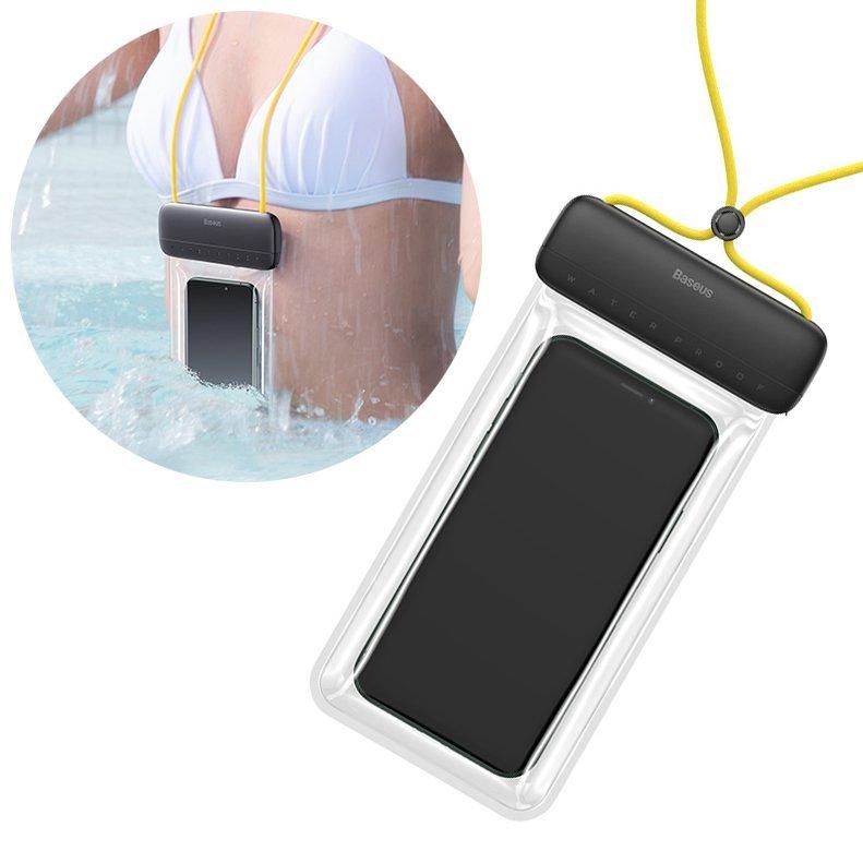 Водонепроницаемый чехол Baseus Let's Go Slip Cover Waterproof Bag серый + желтый