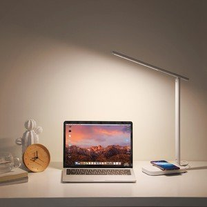 Настольная лампа Baseus Lett с беспроводной зарядкой белая
