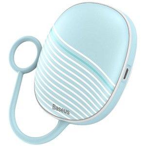 Портативная грелка для рук с ночником Baseus Little Tail Camping Light Hand Warmer голубая