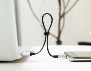 Type-C кабель Baseus Nimble 2A, 23CM серебристый