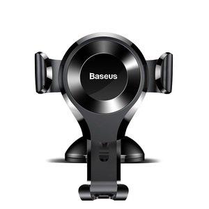 Автомобильный держатель Baseus Osculum Type Gravity Car Mount серебристый + чёрный