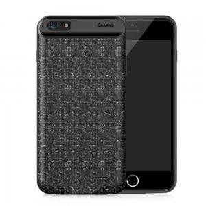 Чехол-аккумулятор Baseus Plaid Backpack 2500mAh чёрный для iPhone 6/6S