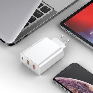 Сетевое зарядное устройство Baseus PPS Three Output Quick Charger (C+U+U) 60W белое
