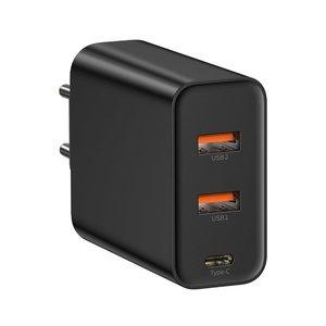 Сетевое зарядное устройство Baseus PPS Three Output Quick Charger (C+U+U) 60W черное