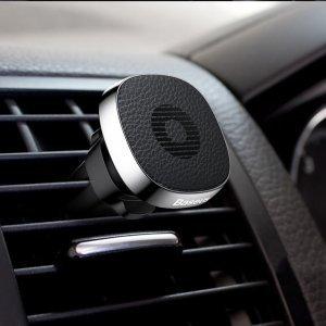 Держатель Baseus Privity Series Pro Air outlet Magnet Bracket серебристый