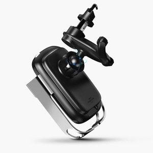 Автомобильное беспроводное зарядное устройство и держатель Baseus Rock-Solid Electric чёрный