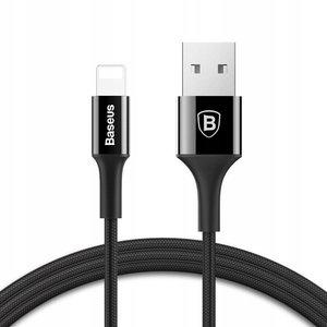 Lightning кабель Baseus Shining Cable With Jet Metal 1M чёрный