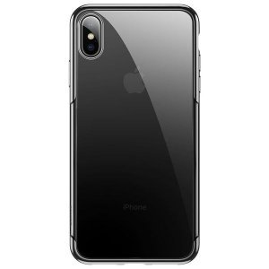 Силиконовый чехол Baseus Shining черный для iPhone XS
