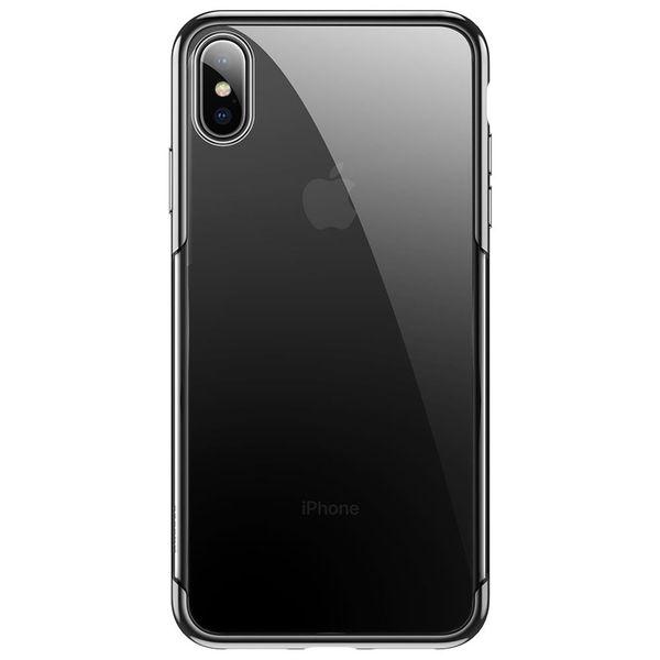 Силиконовый чехол Baseus Shining черный для iPhone XS Max