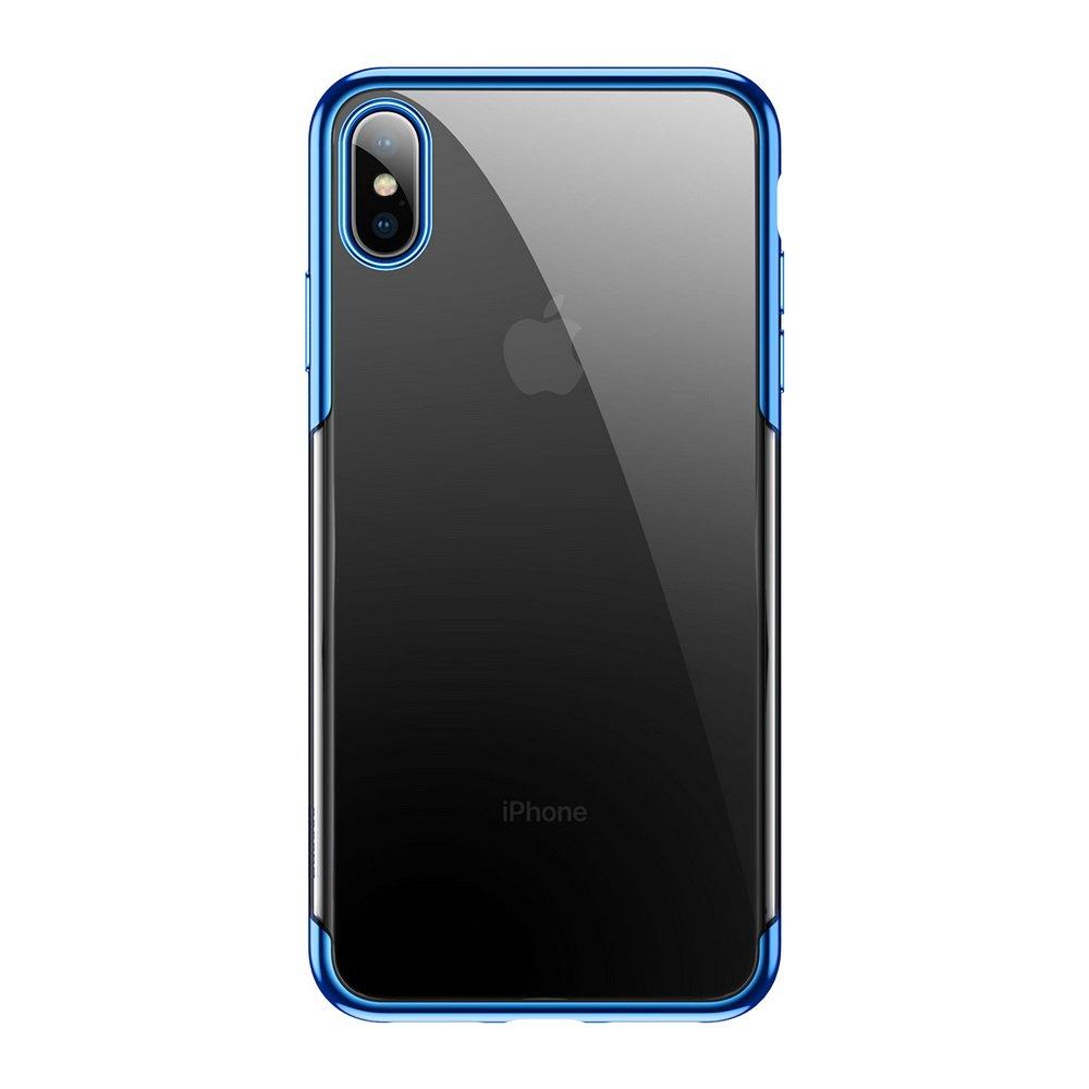 Силиконовый чехол Baseus Shining синий для iPhone XS Max