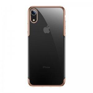 Силиконовый чехол Baseus Shining золотой для iPhone XR