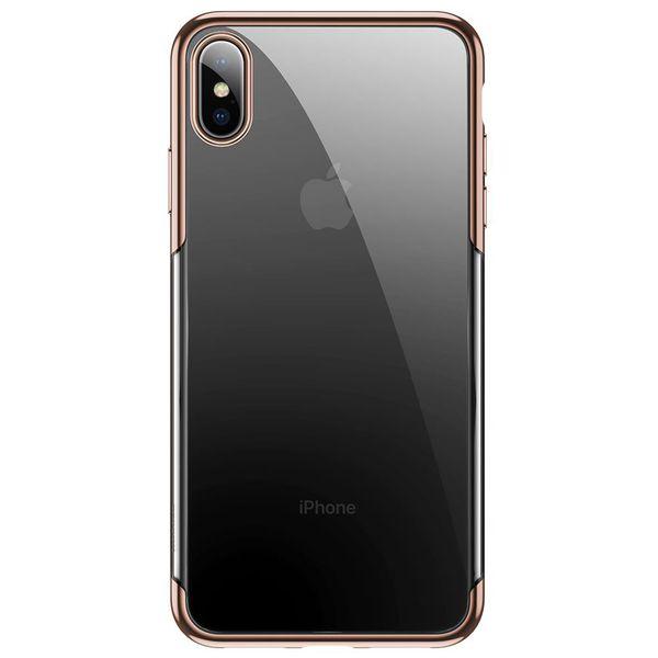Силиконовый чехол Baseus Shining золотой для iPhone XS Max
