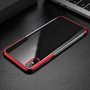 Силиконовый чехол Baseus Shining красный для iPhone XS