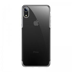 Силиконовый чехол Baseus Shining серебристый для iPhone XR