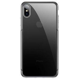 Силиконовый чехол Baseus Shining серебристый для iPhone XS