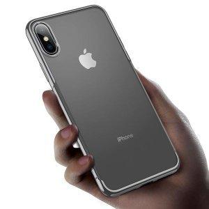 Силиконовый чехол Baseus Shining серебристый для iPhone XS Max