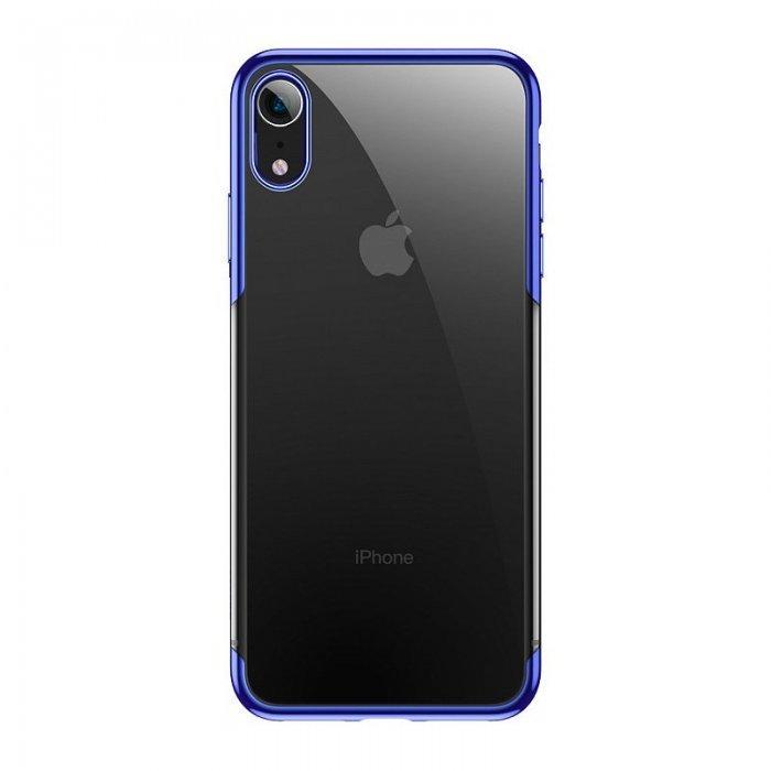 Силиконовый чехол Baseus Shining синий для iPhone XR