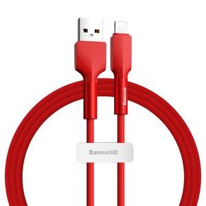 Lightning кабель Baseus Silica Gel cable USB For iPhone 1m червоний