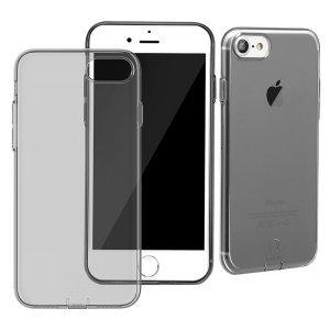 Полупрозрачный чехол Baseus Simple (With-Pluggy) чёрный для iPhone 8/7/SE 2020
