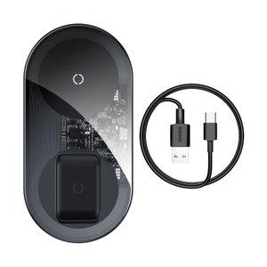 Беспроводное ЗУ Baseus Simple 2-in-1 Wireless Charger Pro Edition прозрачное