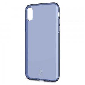 Полупрозрачный чехол Baseus Simple синий для iPhone X/XS