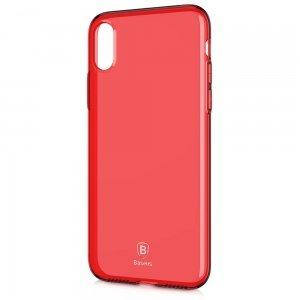 Полупрозрачный чехол Baseus Simple красный для iPhone X/XS