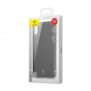 Силиконовый чехол с заглушкой Baseus Simple черный для iPhone X/XS