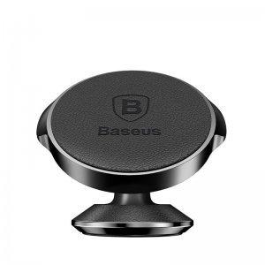 Автомобильный держатель Baseus Small Ears Series Vertical Magnetic Bracket (Genuine Leather Type) черный