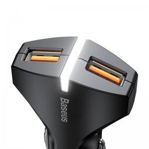Автомобильное зарядное устройство Baseus Small Rocket QC3.0 Dual-USB черное