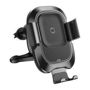 Автомобильное беспроводное ЗУ и держатель Baseus Smart Vehicle Bracket черное