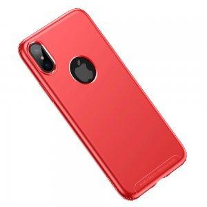 Силиконовый чехол Baseus Soft красный для iPhone X