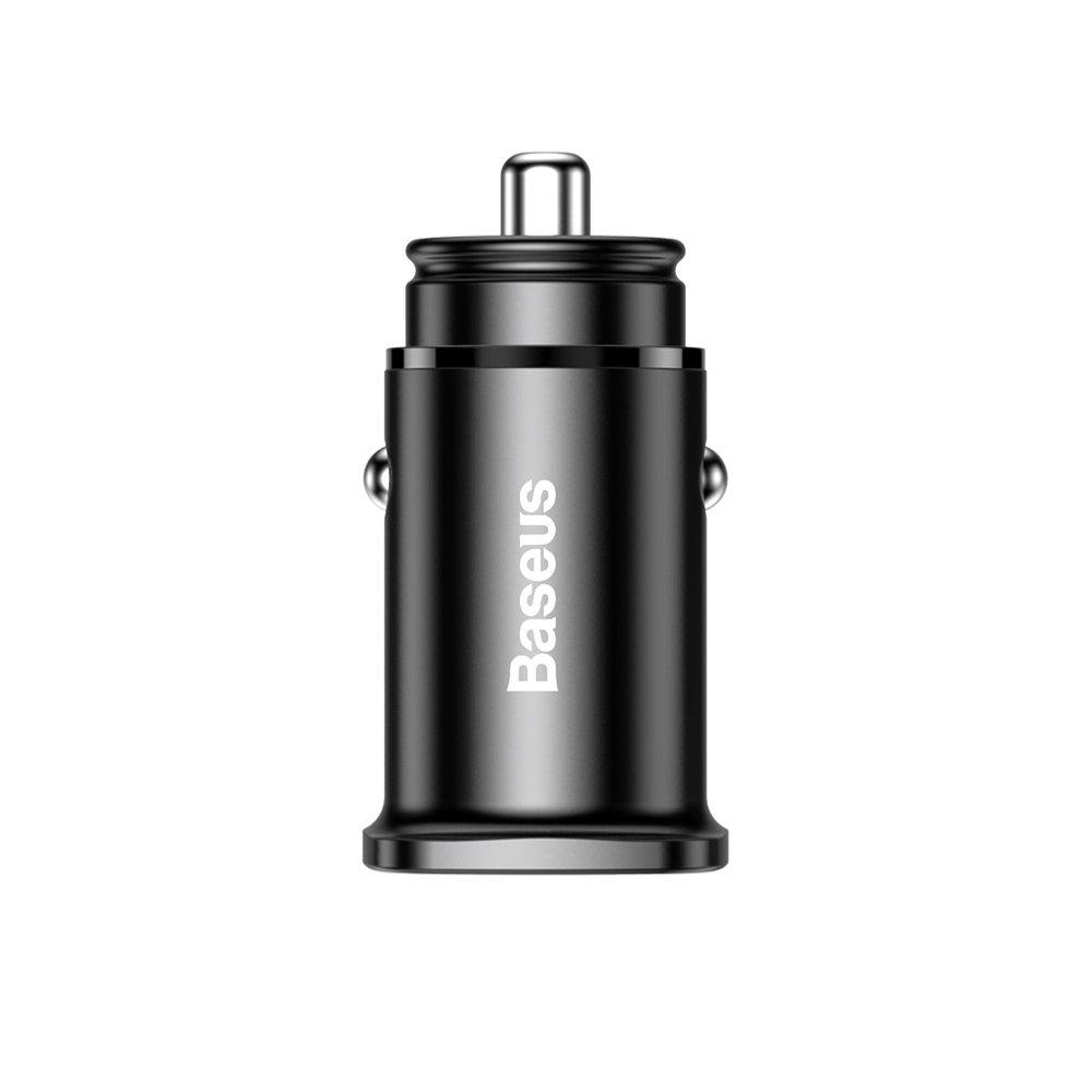 Автомобильное зарядное устройство Baseus Square metal A+C 30W PPS (PD3.0, QC4.0+SCP, AFC) черное