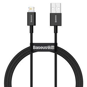 Кабель Baseus Superior Series Fast Charging Data Cable USB to Lightning 2.4A 1m (CALYS-A01) чорний